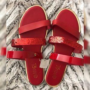 Red Sparkled sandals